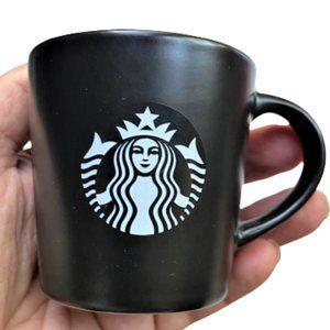 New Starbucks Black small Espresso Cup Mug 2015